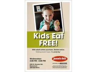 Kids Eat Free Cling 11x17