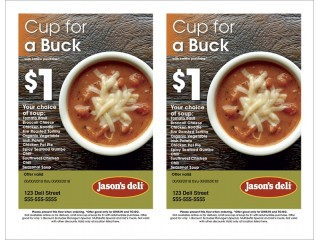 Cup For A Buck Half-Page
