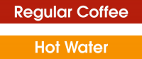 Coffee & Hot Water Labels