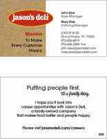 Deli Staff Business Cards