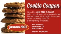 Free Cookie With Purchase