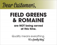 Field Greens & Romaine Recall - PDF
