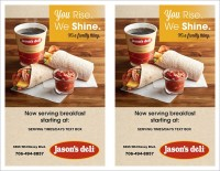Breakfast Dine In Flyer Half-Page