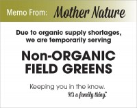 Organic Field Green Shortage - PDF