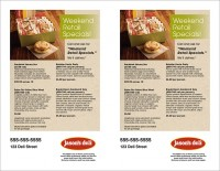 Retail Flyer Half-Page